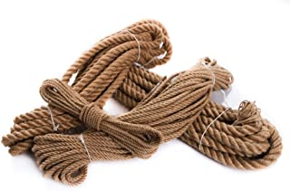 Unbekannt Juteseil Hanfseil Naturhanf Hanf Tau Tauwerk Handlauf Seil alle Stärken Stärke: 30 mm, 10 Meter