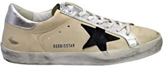 Men's Sneakers Superstar Cream Leather-Navy Star G33MS590.H57 (Size: 46)