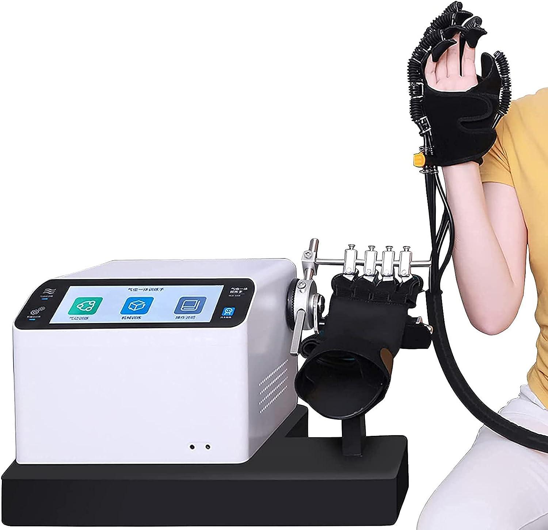 ZZBB Ejercitador Ortopédico Eléctrico para Dedos con Pantalla, Dispositivo De Entrenamiento para Manos con Dedos, Equipo De Recuperación, Equipo para Entrenamiento