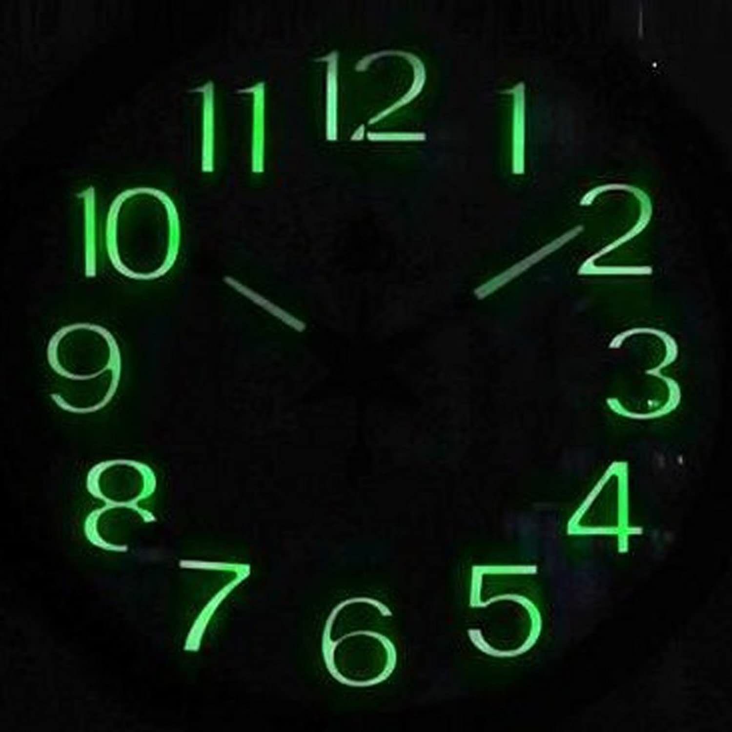 VQA Drm Silent Non-Ticking Simple Wall Clock- Metal Frame Glowing Hands Luminous Numerals, 13.6 Inches (Black),White diameter34.5cm
