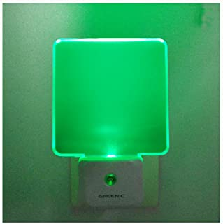 GREENIC 2 Pack 0.5W Plug in LED Night Light with Dusk to Dawn Sensor Green