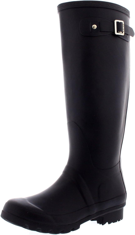 Polar Womens Original Tall Snow Winter Waterproof Rain Wellies Wellington Boots - 11 - DPU42 BL0028