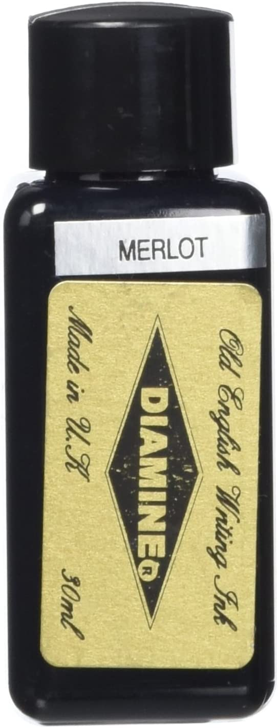 Diamine 30 ml Bottle Fountain Free shipping on Max 69% OFF posting reviews Merlot Pen Ink