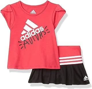 adidas Baby-Girls AG4402 Tee and Sport Skort Set Skirt Set