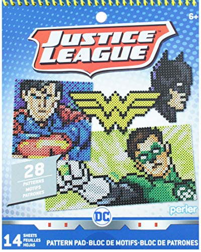 Perler Beads DC Justice League Fuse Bead Pattern Pad, 28 Patterns