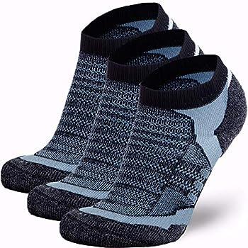 Pure Athlete Merino Wool Socks Men Women Youth – Low Cut Cushioned Athletic Running Sock Moisture Wicking