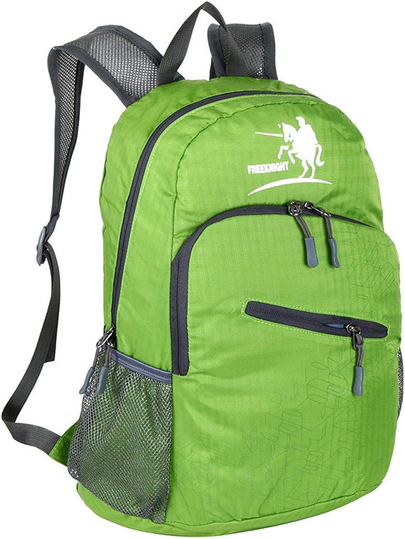Backpacks Mountaineering Backpack Water Repellent Fold Travel by Walking Camping Camping Leisure Travel Neutral Multifunctional Laptop Bag Waterproof Mountaineering Bag (color   Green)
