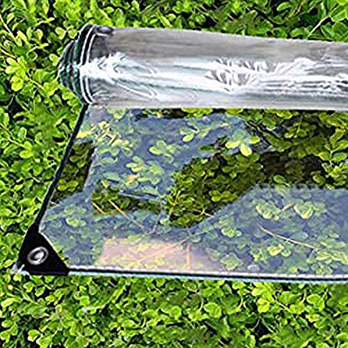 SJQ Lona Transparente, Resistente al Agua, Resistente al Agua, Vidrio de PVC Transparente, Cubierta de Lona, Sala de Sol, Planta de Flores, Resistente a la Lluvia, Lona de plástico Extra de al