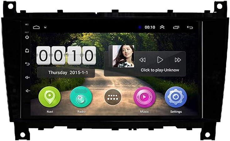 Sadge 9 Zoll Navi Auto Player Android Anwendbar Für Mercedes Benz G Klasse Clk W209 Auto Stereo Radio Bluetooth Digital Media Fm Gps Navigation Mp3 Multimedia Sport Freizeit