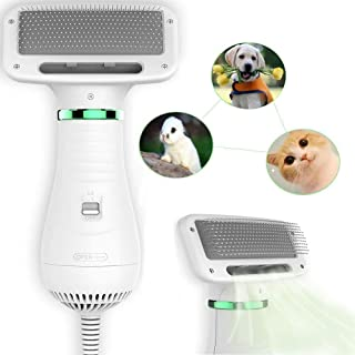 Pet Hair Dryer, Pet Hair Dryer Comb,Pet Grooming Hair Dryer with Comb, Adjustable Temperature and Low Noise, 2 in 1 Portab...