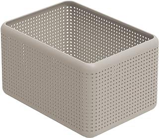 Rotho Madei Boîte de Rangement 13L, Plastique (PP) sans BPA, CaPPuccino, 13L (32,6 X 23,8 X 18,8 cm)