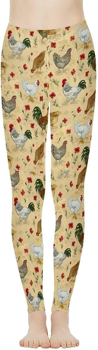 doginthehole Women's High Waisted Leggings Floral Print Casual Sport Yoga Pants Full Length Ankle Leggings