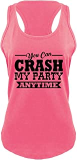 Ladies Crash My Party Anytime Shirt Country Song Concert Racerback