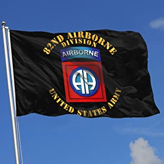 GSNWFG Army 82nd Airborne Division 3x5 Foot Flags Outdoor Flags 100% Single-Layer Translucent Polyester 3x5 Ft