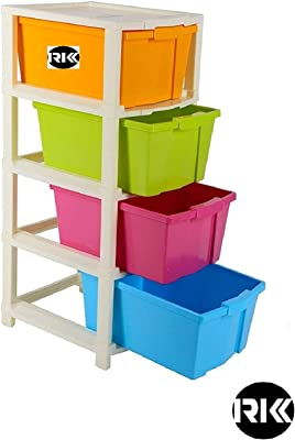 Marve R.K.K 4 XL Large Multi-Purpose Modular Drawer Storage System for and Office with Anti-Slip (Multicolour) SET OF{1}