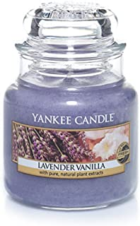 Yankee Candle Lavender Vanilla Small Jar Candle, Fresh Scent