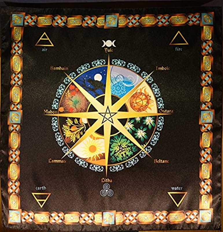 Tablecloth Cape Ritual Year Wheel Of Small