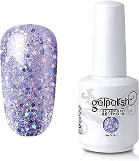Elite99 Gel Nail Polish Soak Off UV LED Gel Lacquer Nail Art Manicure Glitter Thistle 352 15ml