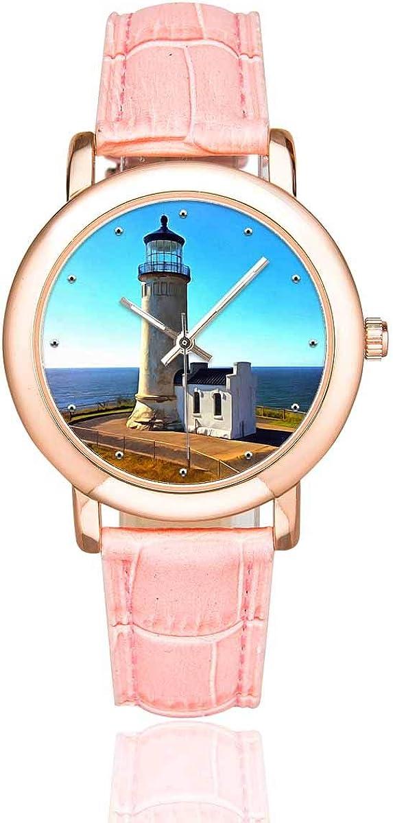 InterestPrint White Lighthouse Women's Ranking TOP14 Waterproof New product Watches Wrist