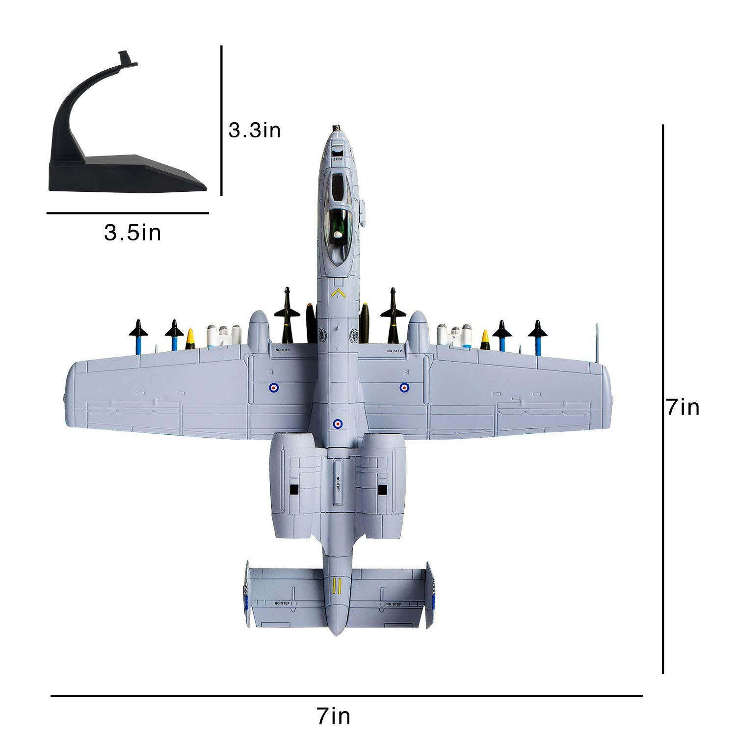 1/100 A-10 Thunderbolt II Warthog Attack Plane(Painted Version) Metal Fighter Military Model Diecast Plane Model for Collection or Gift