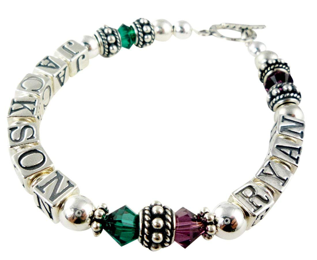 Mothers Bracelet with - Two Birthstones Childrens Names Phoenix Mall and 2 Great interest