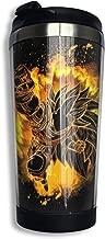 KEEFER Soul Of Dragon Punch Goku Dragon Ball Vacuum Insulated Stainless Steel Tumbler Coffee Travel Mug 13.5oz