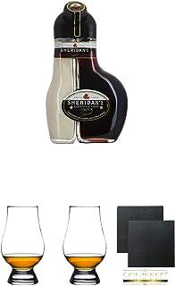 "Sheridan""s Coffee Irish Likör 0,5 Liter  The Glencairn Glass Whisky Glas Stölzle 1 Stück  The Glencairn Glass Whisky Glas Stölzle 1 Stück  Schiefer Glasuntersetzer eckig ca. 9,5 cm Durchmesser 2 Stück"