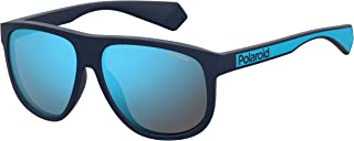 Polaroid PLD 2080/S SS19 Gafas de sol para Hombre, Matte Blue, 58 mm