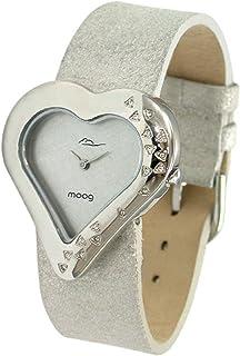 Moog Paris Heart Women's Dial Leather Band Watch -M44332-009