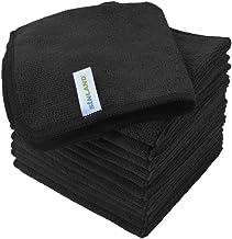 Sinland Microfiber Dish Cloth Cleaning Towel Super Absorbent Dish Rags (30cmx30cm, Blackx12)