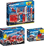 PLAYMOBIL 9462-63-68 Set 3 de Bomberos: 9462, 9463 y 9468