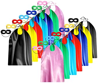 Adult Superhero Capes and Masks for Teenagers Men & Women - Dress Up Superhero Party Capes for Spirit Day Team Buildi...