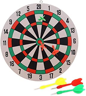 Chalkalon 5PCS Wall Hanging Dart Board Game Set, Safety Dual Sides Available Thickened Fun Family Game Indoor Outdoor Throwing Game - 29.5CM