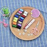 No logo Bordado de Hilo 30pcs / Set de Viaje de Estuches de Costura Caja de la Caja portátil con Aguja Hilos Pin Tijera de Costura Set Principal Herramientas ZHQHYQHHX