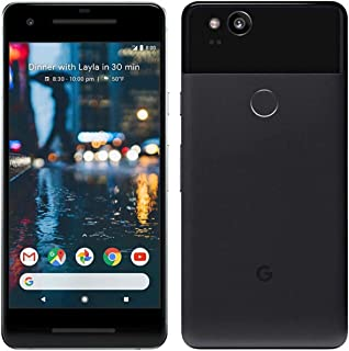 "Pixel 2 Phone (2017) by Google, G011A 64GB 5"" inch Factory Unlocked Android 4G/LTE Smartphone (Just Black) - International..."