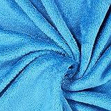 Fabulous Fabrics Teddy Plüsch Kuschel türkis —