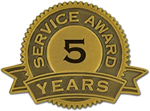 PinMart 5 Years of Service Award Lapel Pin