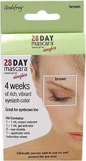Godefroy 28 Day Mascara Lash & Brow Tint Single Brown (6 Pieces)