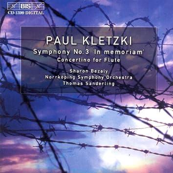 Kletzki: Symphony No. 3 / Concertino for Flute