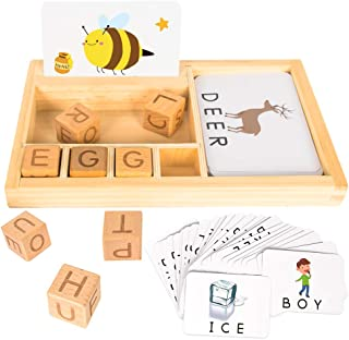 Youwo See and Spell Learning Toy - Puzzle Preschool Spelling Game Toys Matching Letter Game and Develops Alphabet Words Spelling Skills for 3 Year olds (Upgraded Version)