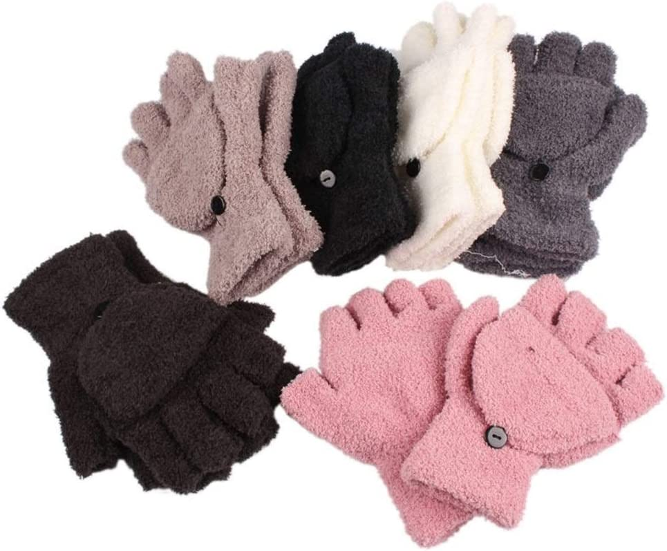 FASGION 2019 Lady Ladies Hand Wrist Warmer Winter Fingerless Gloves Female Gloves Gift Hot (Color : Gray)