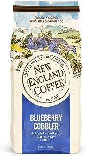 New England Coffee Blueberry Cobbler, Medium Roast Ground Coffee, 11 Ounce/Bag