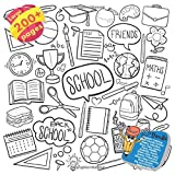 Gigantic Coloring Book Friends School Maths, Valentine, Boys, Fairy, Space, Farm, Wildlife, Butterfly, Haven, Shark, Bear, Angel, Queen, Travel and ... School Maths and others Doodle, Band 1)