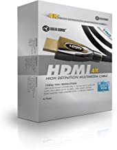HDMI Cable 6 ft (2 Pack) - 2.0 (4K) Capable Gold Plated High-Speed Ethernet, HDTV Cables, Video Games, 4K 2160p, HD 1080p, 3D - Video Games, DVD Player