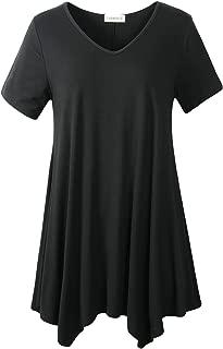 Women Casual T Shirt V-Neck Tunic Tops for Leggings