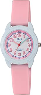 Q&Q Women's Pink Dial Silicone Band Watch - VR97J001Y