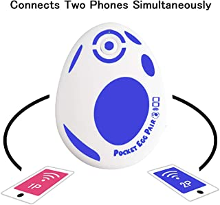 JZW-Shop Pocket Egg Pair, New Pocket Egg Auto Catch Pokemon Connects Two Phones Simultaneously for Pokemon Go Plus Accessory Compatible with iPhone and Android (Blue)