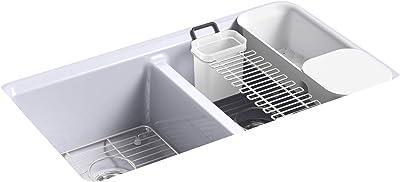 Kohler K-8679-5UA3-GRL Riverby Kitchen Sink, LavenderGrey
