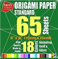 Taroの折り紙スタジオプレミアム日本製折り紙。 65 Sheets Origami Standard 65