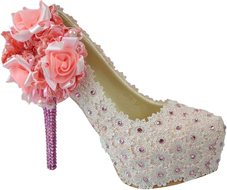 TDA Women's Charming Bridal Wedding Party Stiletto Pumps